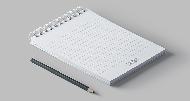 Ringed Notepad Mockup 2